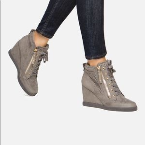 Brand New Just Fab Giomara Wedge Sneaker
